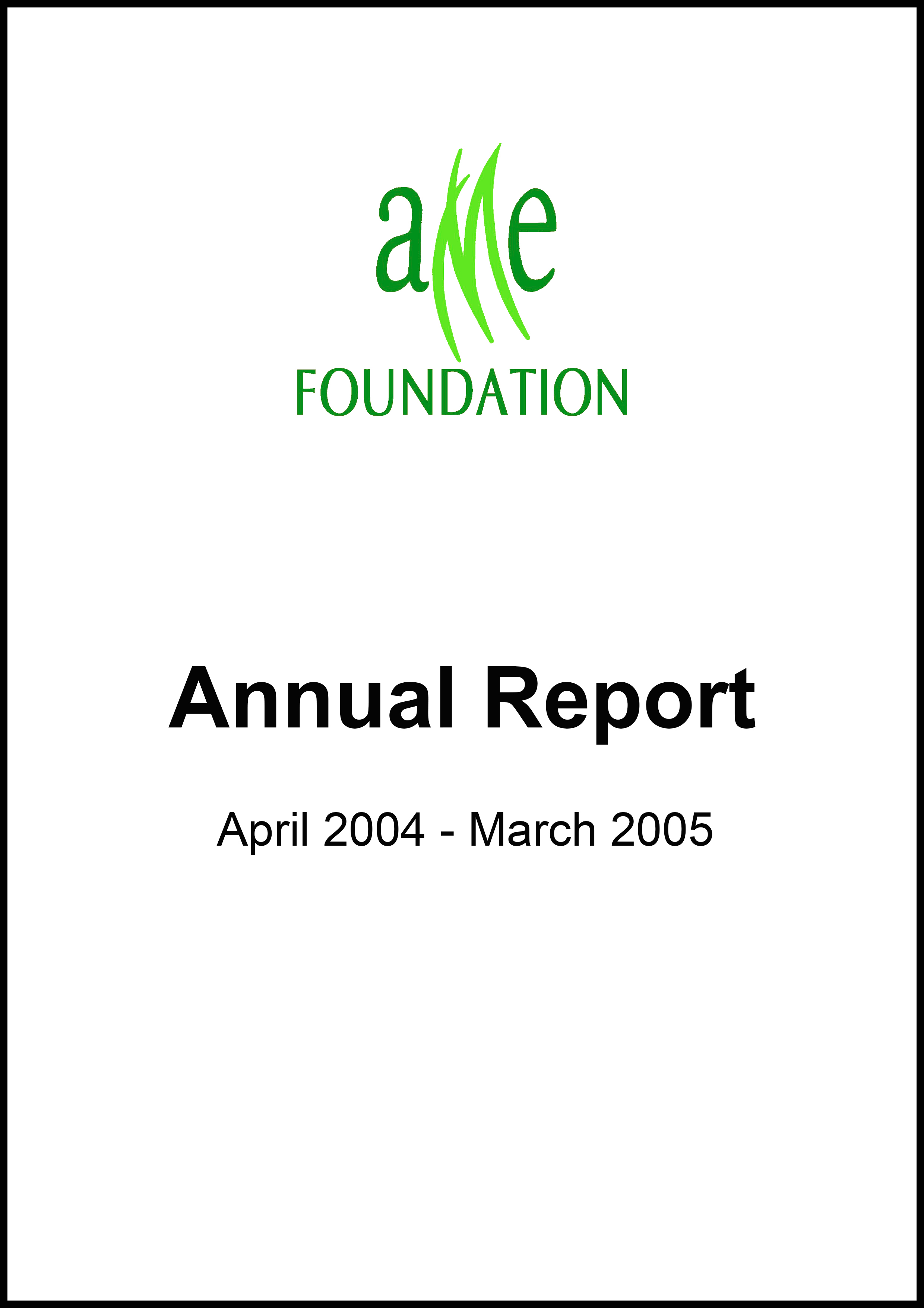 AME Annual Report Thumbnail