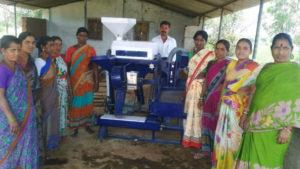 Women's group install Dalmill for processing Redgram