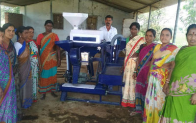 Women's group install Dalmill for processing Redgram