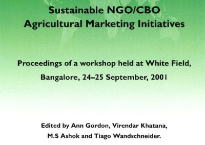 Study to address the energy issues and livelihoods of the poor section of the society in the semi-arid region (2003) Agricultural Marketing Study (NRI)